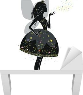 Sticker pour table Lack Fée en robe noire