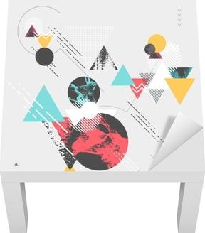 Sticker pour table Lack Fond géométrique moderne abstrait