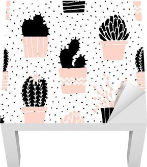 Sticker pour Table Lack Hand Drawn Cactus Motif