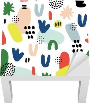 Sticker pour Table Lack Hand drawn seamless pattern dans un style moderne. Design for affiche, carte, invitation, affiche, brochure, flyer, textile.