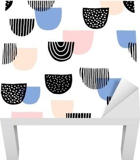 Sticker pour Table Lack Main dessinée seamless pattern
