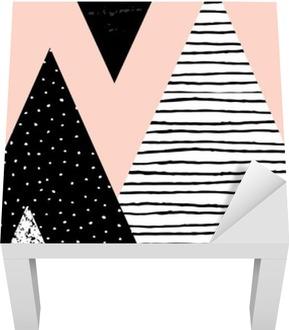 Sticker pour Table Lack Paysage abstrait géométrique