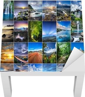 Sticker pour table Lack Paysages de La Réunion.