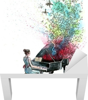 Sticker pour table Lack Piano musique (série C)