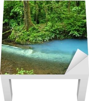 Sticker pour table Lack Rio Celeste dans le volcan Tenorio National Park, Costa Rica
