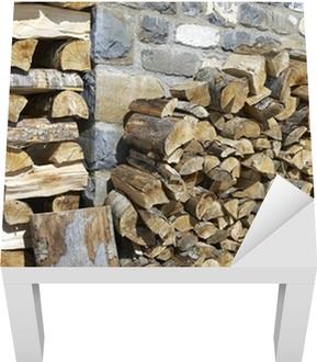 Sticker pour table Lack Tas de bois