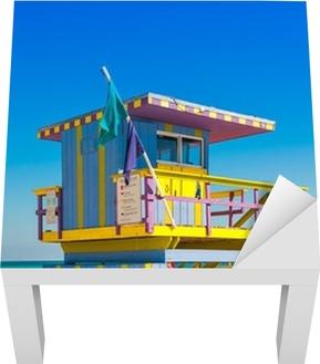 Sticker pour table Lack Tour de sauveteur à South Beach, Miami Beach, Floride