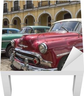 Une Serie De Vieilles Voitures Americaines Des Annees 50 A La Havane Cuba