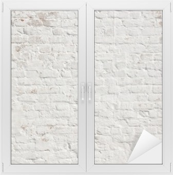 Sticker Vitre Blanc grunge fond mur de briques