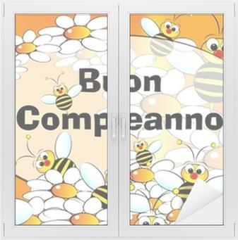 Carte Anniversaire Italien.Tableau Sur Toile Carte De Joyeux Anniversaire Italien Pixers