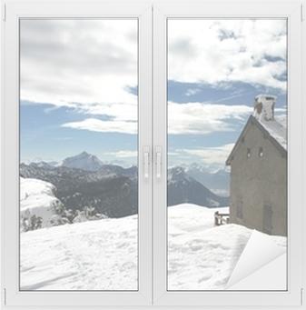 Sticker pour vitres et fenêtres Chalet montagne