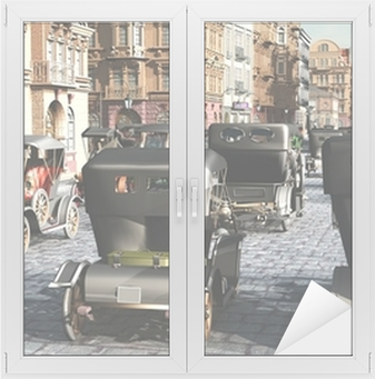Sticker pour vitres et fenêtres City retro