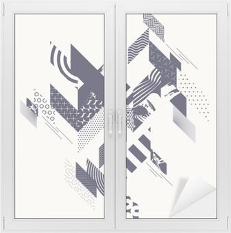 Sticker pour vitres et fenêtres Fond géométrique moderne abstrait