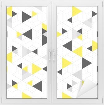 Sticker Vitre Géométrique, modèle, fond
