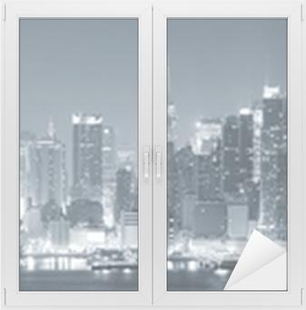 Sticker Vitre New York City Manhattan en noir et blanc