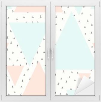 Sticker pour vitres et fenêtres Résumé motif géométrique