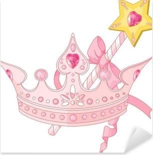 Princess crown and magic wand Pixerstick Sticker