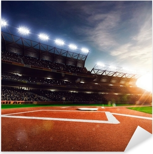 Professional baseball grand arena in sunlight Pixerstick Sticker