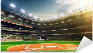 Professional baseball grand arena in sunlight Pixerstick Sticker