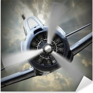 Propeller plane. Pixerstick Sticker