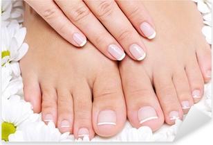 Sticker Pixerstick Pures et beauté des pieds féminins