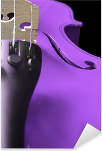 Purple Violin Pixerstick Sticker
