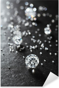 putting diamonds on the surface of the stone closeup. Pixerstick Sticker