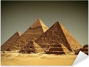 Sticker Pixerstick Pyramides de Gizeh - / Egypte