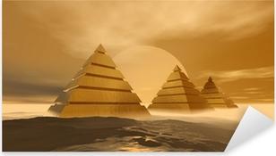 Sticker Pixerstick Pyramides