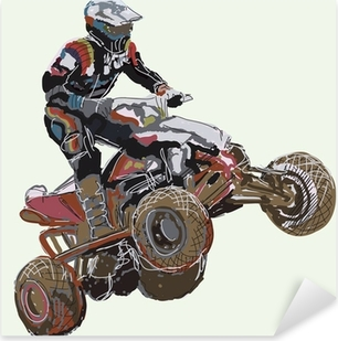 Sticker Pixerstick Quad Bike