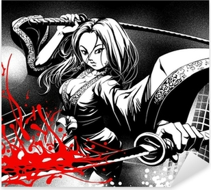 Sticker Pixerstick Quand la bande dessinée se rencontrent manga