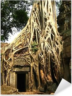 Sticker Pixerstick Racine de l'arbre à Angkor Wat