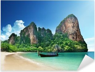 Railay beach in Krabi Thailand Pixerstick Sticker