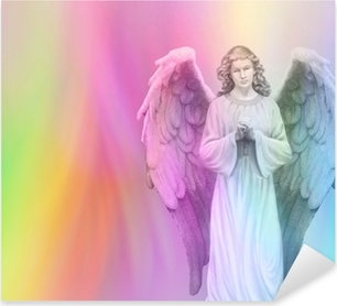 Rainbow Angel 88 Pixerstick Sticker