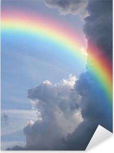 rainbow clouds Pixerstick Sticker