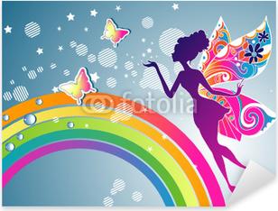 Rainbow Fairy graphic Pixerstick Sticker