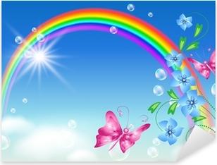 Rainbow in the sky Pixerstick Sticker