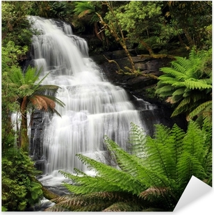 Rainforest Waterfall Pixerstick Sticker