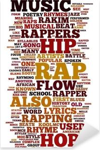 Rap and Hip Hop Music Pixerstick Sticker