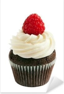Raspberry chocolate cupcake Pixerstick Sticker