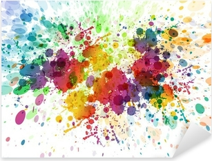raster version of Abstract colorful splash background Pixerstick Sticker
