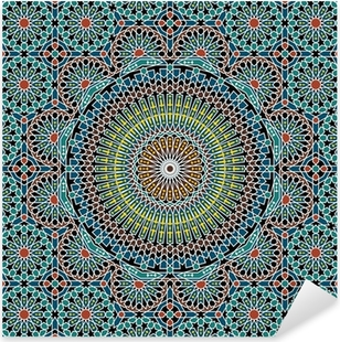 Razil Moorish Seamless Pattern Pixerstick Sticker