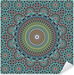 Pixerstick Sticker Razilië Moorse Naadloze Patroon