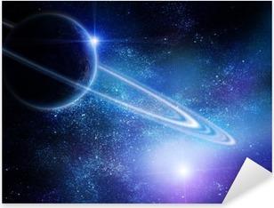 Sticker Pixerstick Réaliste Saturne en espace ouvert