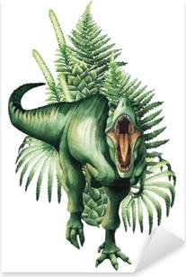 Pixerstick Sticker Realistische aquarel dinosaurus