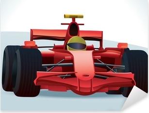 Red F1 Racing Car Pixerstick Sticker