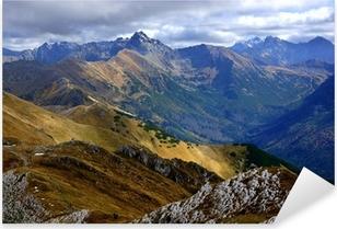 Sticker Pixerstick Red Mountain Peaks, Tatras en Pologne