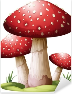 Sticker Pixerstick Red mushroom