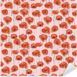 Red poppies - Nina Ho Pixerstick Sticker