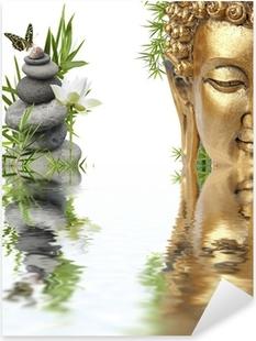 Sticker Pixerstick Reflets de Bouddha